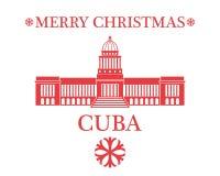 Greeting Card. Cuba Royalty Free Stock Photography