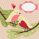 Greeting card with cute bird. Stock Images