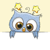 Greeting card cute Owl boy Royalty Free Stock Images