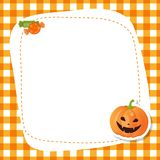 Greeting card with cute pumpkin. Stock Images