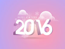 Greeting card with 3D text for New Year. Stock Images