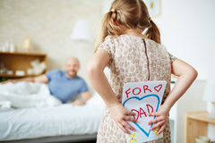 Greeting card for dad Stock Photos