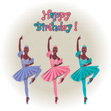 Greeting card with dancing people. Greeting card dancing with simulated paper Royalty Free Stock Photo