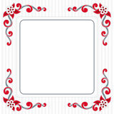 Greeting card. Decoration greeting card with scroll shape flawer and striped background Royalty Free Stock Images
