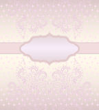Greeting card with decorative elements.   Vector print . Royalty Free Stock Images