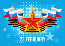 Greeting card for Defender of the Fatherland Day. Greeting card for holiday on 23 February, Defender of the Fatherland Day. Vector illustration Royalty Free Stock Image