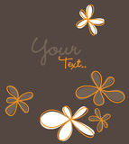 Greeting card design. Simple illustration of a floral greeting card, vector Royalty Free Stock Photos