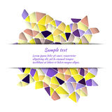 Greeting card design with abstract pattern and space for text. Royalty Free Stock Photo