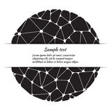 Greeting card design with abstract pattern and space for text. Royalty Free Stock Photography