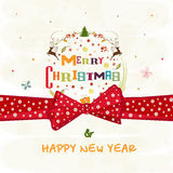 Greeting card design for Christmas celebrations. Stock Photo