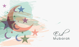 Greeting card design for Eid festival celebration. Stock Photos
