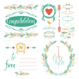 Greeting Card and design elements set Royalty Free Stock Photos