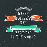 Greeting card design for Fathers Day celebration. Stock Images