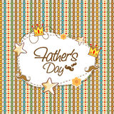 Greeting card design for Fathers Day celebration. Royalty Free Stock Image