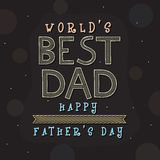 Greeting card design for Fathers Day celebration. Royalty Free Stock Photos