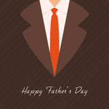 Greeting card design for Fathers Day celebration. Stock Photos