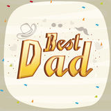Greeting card design for Fathers Day. Royalty Free Stock Image