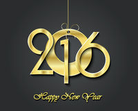 2016 greeting card design. Golden symbol. Creative happy new year 2016 greeting card design. Golden symbol royalty free illustration