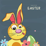 Greeting card design for Happy Easter celebration. Stock Image