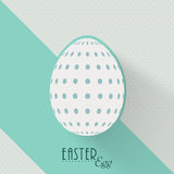 Greeting card design for Happy Easter celebration. Happy Easter celebration greeting card design with polka dots decorated egg Royalty Free Stock Photos