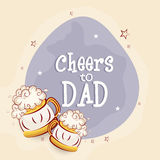 Greeting card design for Happy Father's Day. Stock Photography