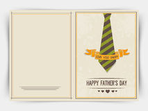 Greeting card design for Happy Father's Day. Stock Photos