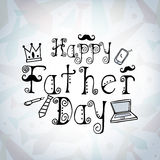 Greeting card design for Happy fathers Day. Stock Photo