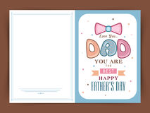 Greeting card design for Happy Fathers Day. Royalty Free Stock Photo