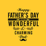 Greeting card design for Happy Fathers Day. Stock Image