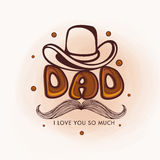 Greeting card design for Happy Fathers Day. Stock Images
