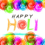 Greeting card design for Happy Holi. Royalty Free Stock Images
