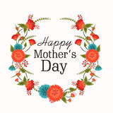 Greeting card design for Happy Mothers Day celebration. Stock Images