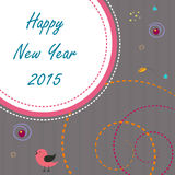 Greeting card design for Happy New Year 2015 celebrations. Royalty Free Stock Images