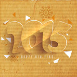 Greeting card design for Happy New Year 2015 celebrations. Happy New Year celebrations greeting card design with creative text 2015 on grungy background Stock Image