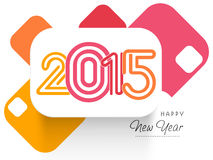 Greeting card design for Happy New Year 2015 celebrations. Royalty Free Stock Image
