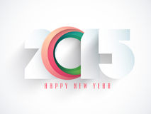 Greeting card design for Happy New Year 2015 celebrations. Happy New Year celebrations greeting card design with stylish text 2015 on white background Stock Photography
