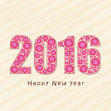 Greeting card design for Happy New Year 2016. Royalty Free Stock Images