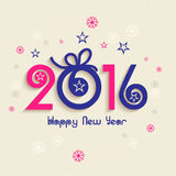 Greeting card design for Happy New Year 2016. Royalty Free Stock Photos