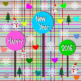 Greeting Card Design, Happy New Year 2016 Stock Image
