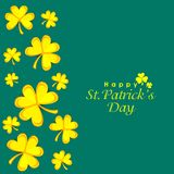 Greeting card design for Happy St. Patrick's Day. Royalty Free Stock Photos