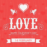 Greeting card design for Happy Valentines Day. Stock Photos
