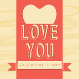 Greeting card design for Happy Valentine's Day celebration. Royalty Free Stock Photography