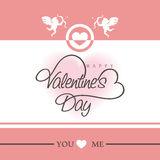 Greeting card design for Happy Valentine's Day celebration. Royalty Free Stock Photo