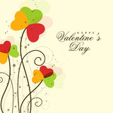 Greeting card design for Happy Valentine's Day celebrations. Royalty Free Stock Photos