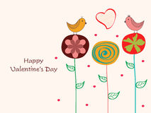 Greeting card design for Happy Valentine's Day celebrations. Royalty Free Stock Images