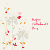 Greeting card design for Happy Valentines Day. Stock Photo