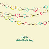 Greeting card design for Happy Valentines Day celebrations. Royalty Free Stock Photography