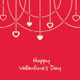Greeting card design for Happy Valentines Day celebrations. Royalty Free Stock Image