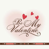 Greeting card design for Happy Valentine's Day celebrations. Stock Images