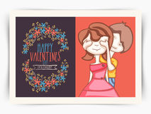 Greeting card design for Happy Valentines Day. Royalty Free Stock Photo